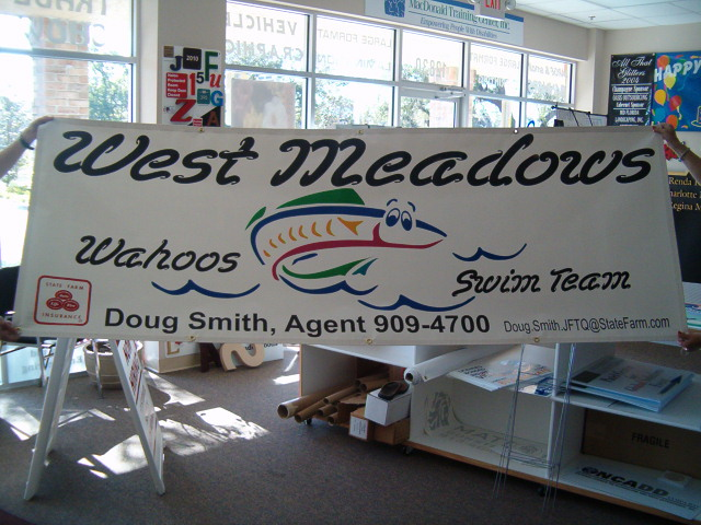 West Mesdows Swim Team Banner