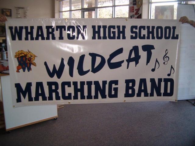 Wharton Band Banner