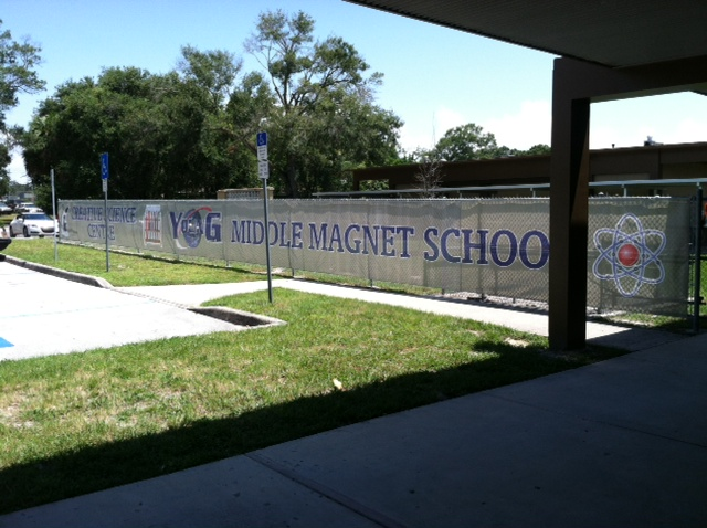 Mesh Fence Banner Young Middle School