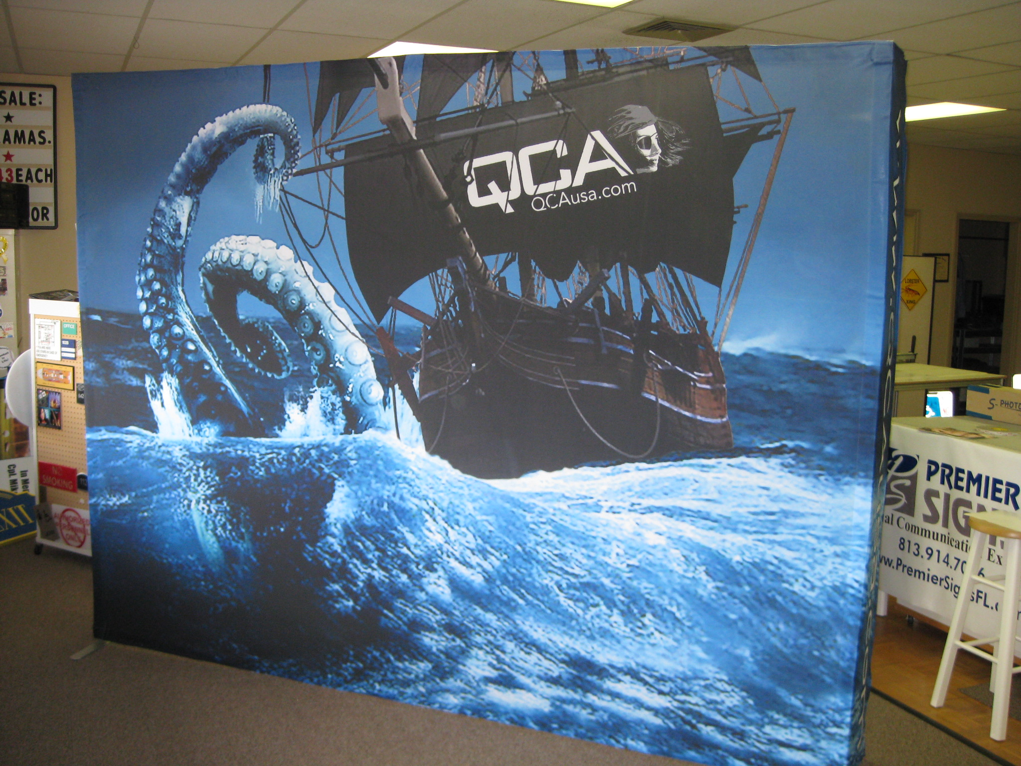 Booth Backdrop By Premier Signs Tampa St Petersburg
