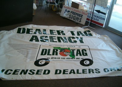 Dealer Tag Agency Banner Bag Cover 1