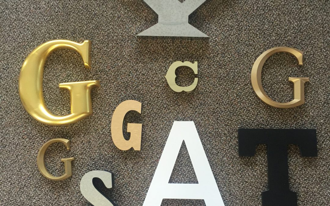 Sign Letters- Aluminum, Stainless, Plastic and Acrylic Mediums