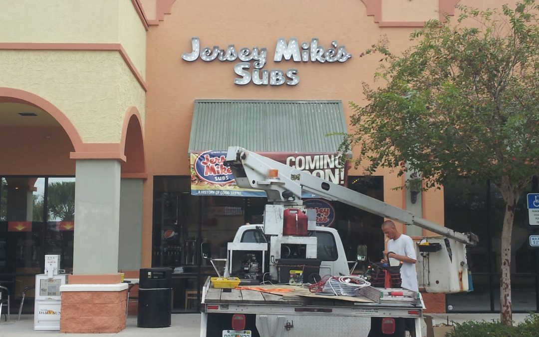 Tampa Area Restaurant's Locations- Varied Sign Installations