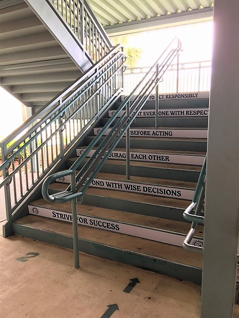 Tampa Bay Schools Step Up with Outdoor Stair Floor Graphics