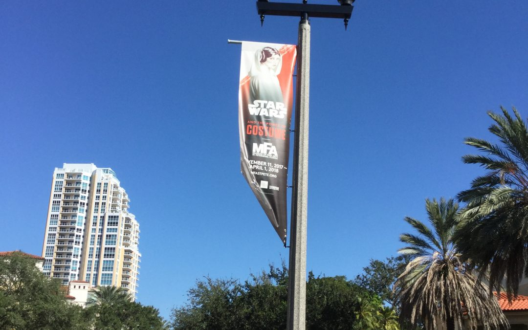 St Petersburg, FL- MFA's New Exhibit's Banners, Inside and Out