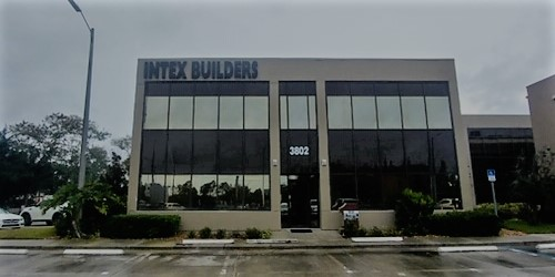 Tampa, FL- Intex Gets Large Halo Lit Exterior Channel Letters