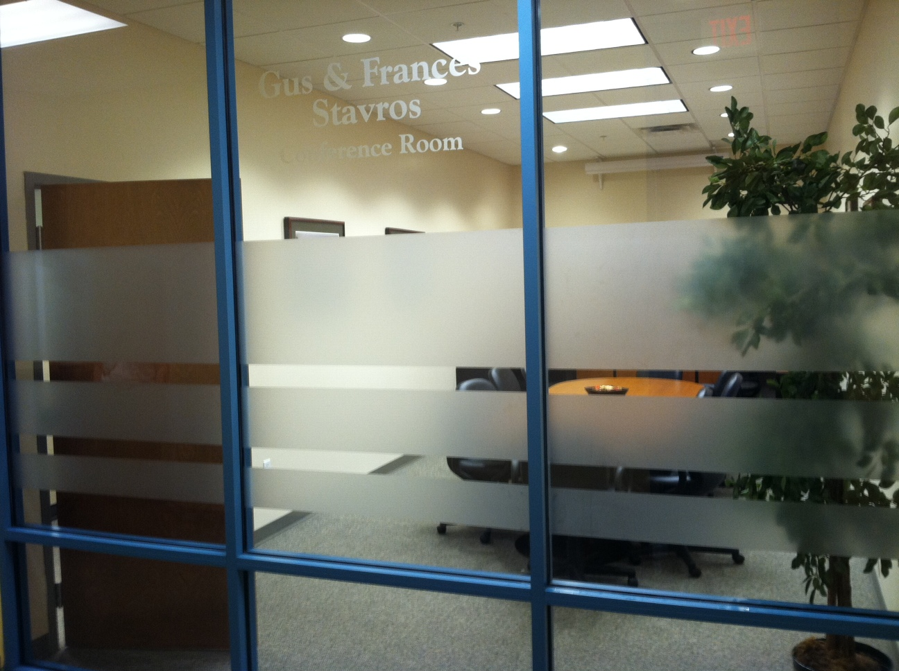Etched vinyl in Tampa, FL for Window Signage