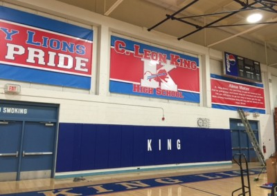 King large gym banners