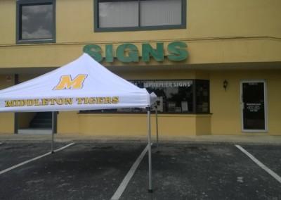 Middleton HS tent