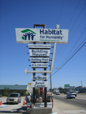 Projecting alum Sign