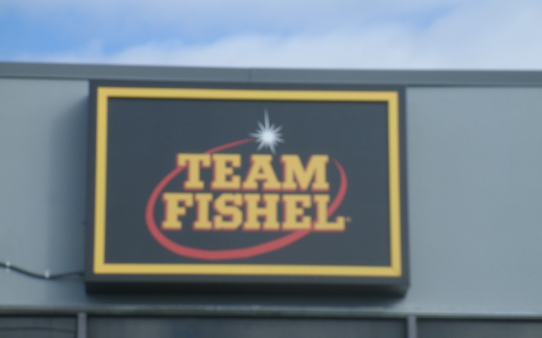 LED Wall Cabinet Sign in Plant City, FL for Team Fishel