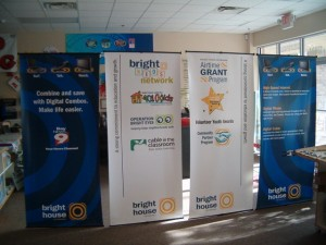 Bight House Roll up Banner Stans