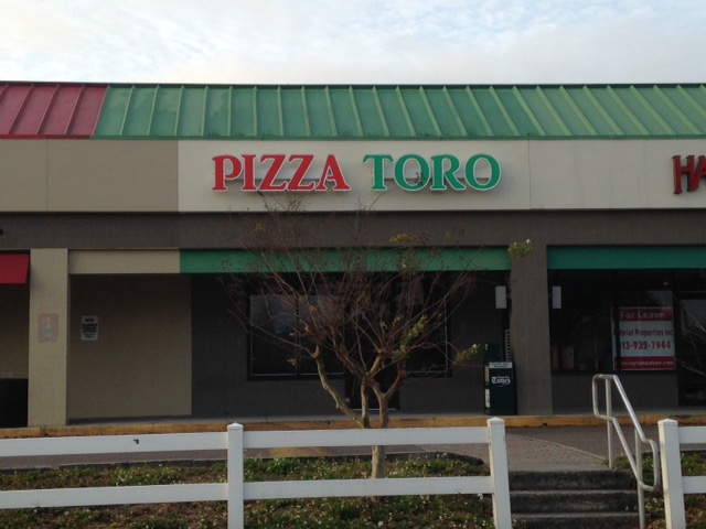 Raceway Mounted Sign in Tampa, FL for Pizza Toro