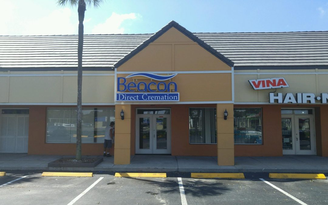 Channel letters and cabinet combo make great custom Tampa, FL sign