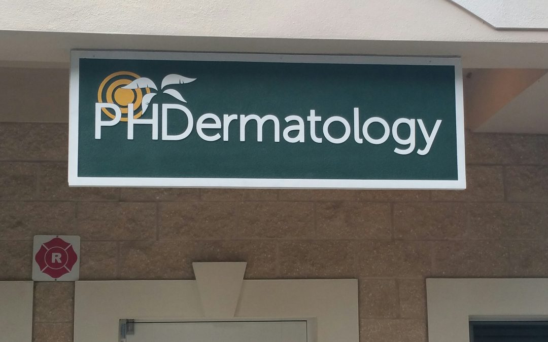 New Sandblasted Sign for PH Dermatology in Brandon, Florida