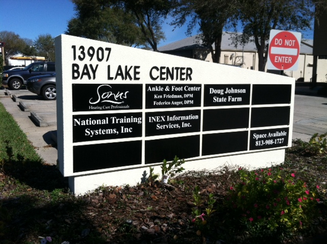 Tampa, FL-Outdoor Monument Signs Mix of Stone, Metal, Acrylic and More