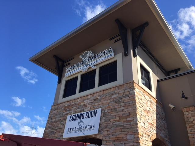 Tampa's New Terra Gaucha Restaurant's Custom Sign