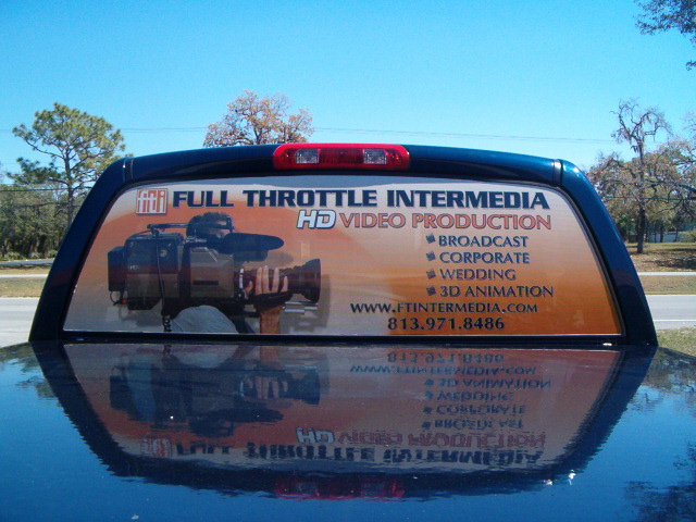 Tampa, FL-Vehicle and Fleet Signs Continue Outdoor Business Marketing