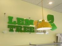 Spring Hill, FL Salon Interior Acrylic Wall Sign and Vinyl Shapes